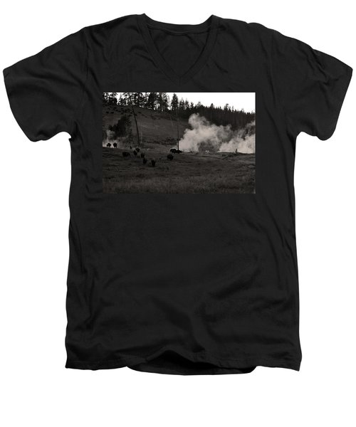 Buffalo Apocalypse  Men's V-Neck T-Shirt