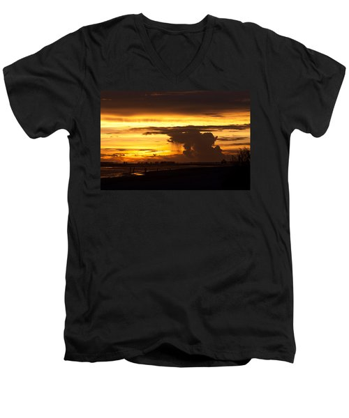 Burning Sky Men's V-Neck T-Shirt