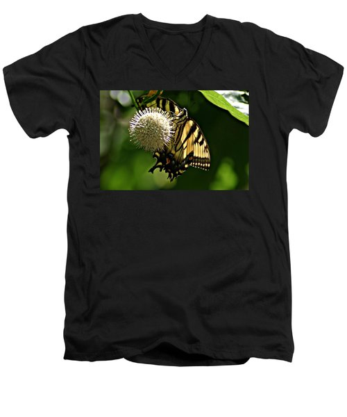 Butterfly 2 Men's V-Neck T-Shirt by Joe Faherty