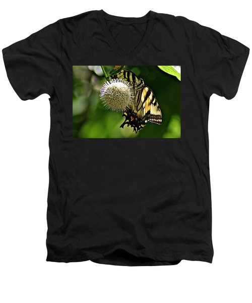 Butterfly 3 Men's V-Neck T-Shirt by Joe Faherty