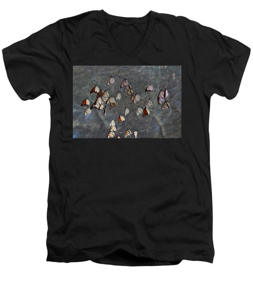 Men's V-Neck T-Shirt featuring the photograph Butterfly Gathering by Tam Ryan