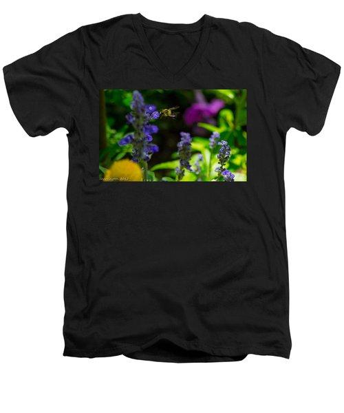 Buzzing Around Men's V-Neck T-Shirt by Shannon Harrington