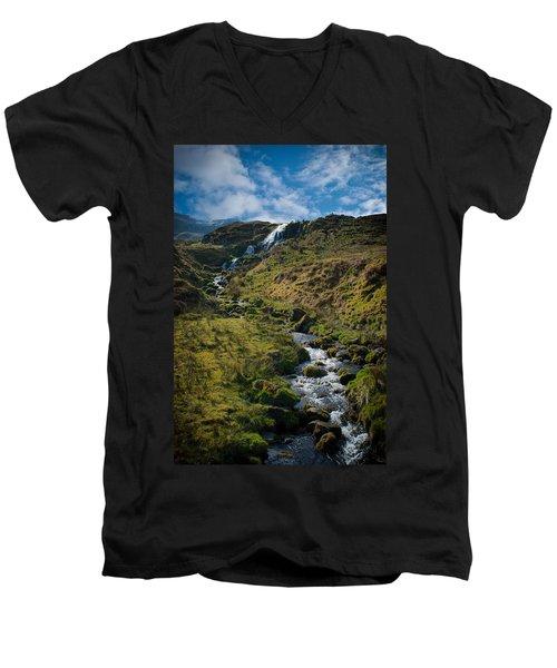 Calmness At The Falls Men's V-Neck T-Shirt