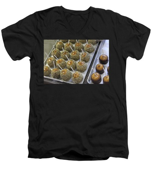 Men's V-Neck T-Shirt featuring the photograph Candy Apples by Bill Owen