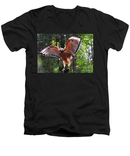 Men's V-Neck T-Shirt featuring the photograph Captivity by Lydia Holly