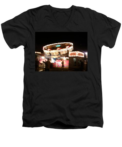 Men's V-Neck T-Shirt featuring the photograph Carnival by Clara Sue Beym