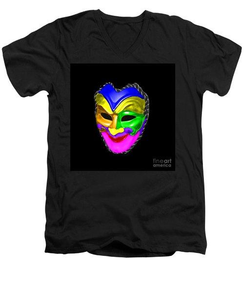 Men's V-Neck T-Shirt featuring the photograph Carnival Mask by Blair Stuart