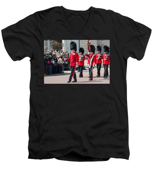 Changing Of The Guard At Buckingham Palace Men's V-Neck T-Shirt