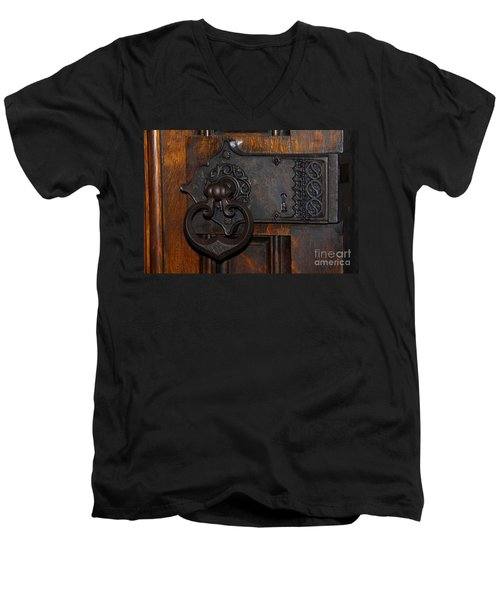 Chapel Door Men's V-Neck T-Shirt by Cindy Manero