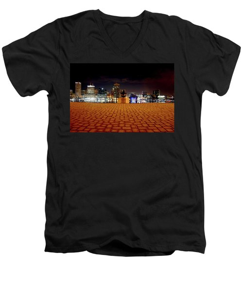 Charm City Skyline Men's V-Neck T-Shirt
