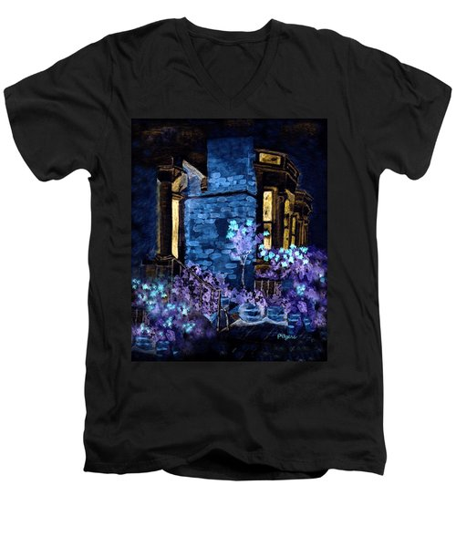 Chelsea Row At Night Men's V-Neck T-Shirt