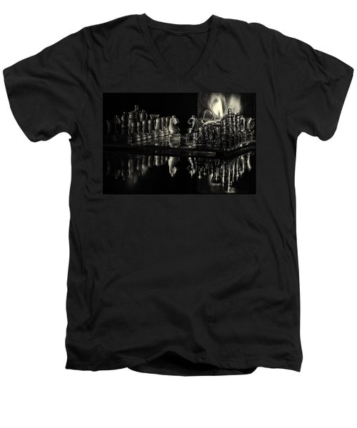 Chess By Candlelight Men's V-Neck T-Shirt
