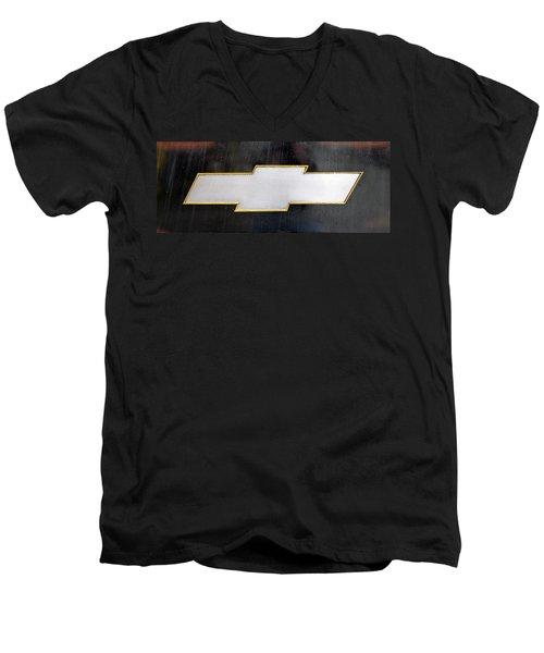 Chevy Bowtie Men's V-Neck T-Shirt by Glenn Gordon