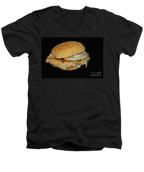 Chicken Sandwich Men's V-Neck T-Shirt by Cindy Manero