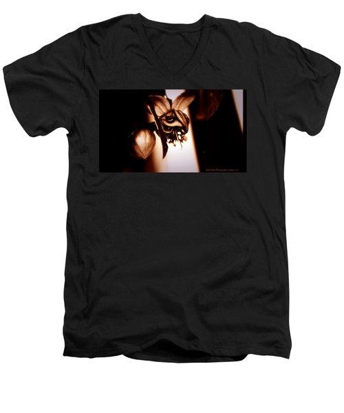 Chocolate Silk Fuchsia II Men's V-Neck T-Shirt by Jeanette C Landstrom