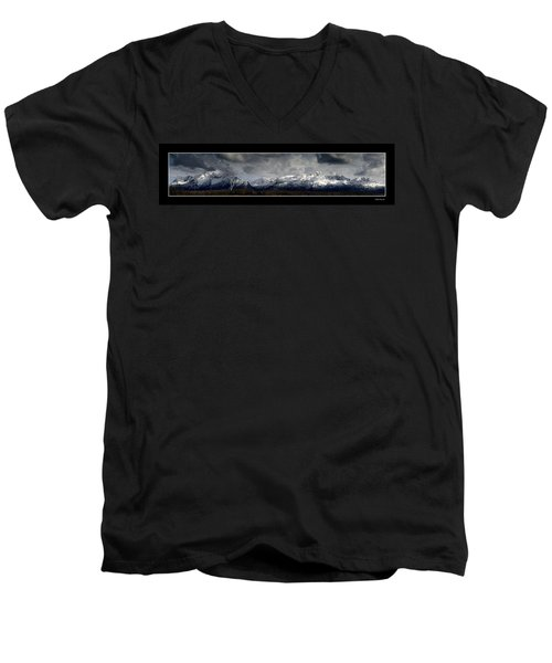 Chugach Mountains Men's V-Neck T-Shirt