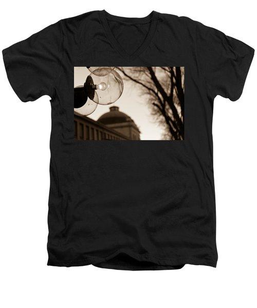 City Globes Men's V-Neck T-Shirt