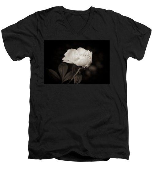 Men's V-Neck T-Shirt featuring the photograph Classic Peony by Sara Frank