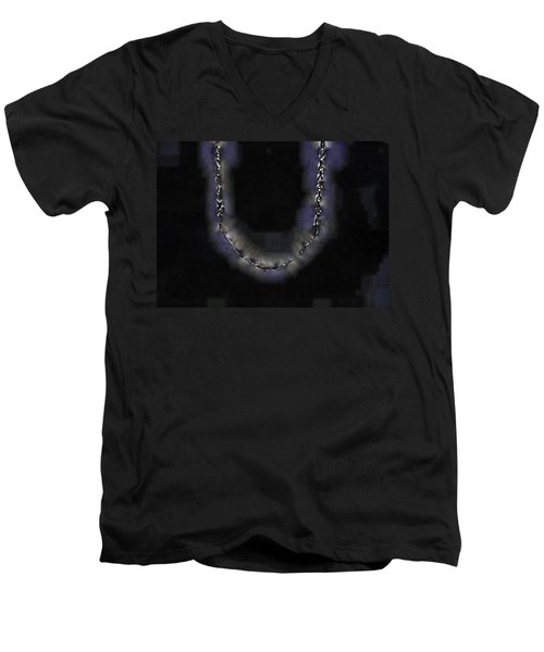 Men's V-Neck T-Shirt featuring the digital art Cleopatra's Necklace by Steve Taylor