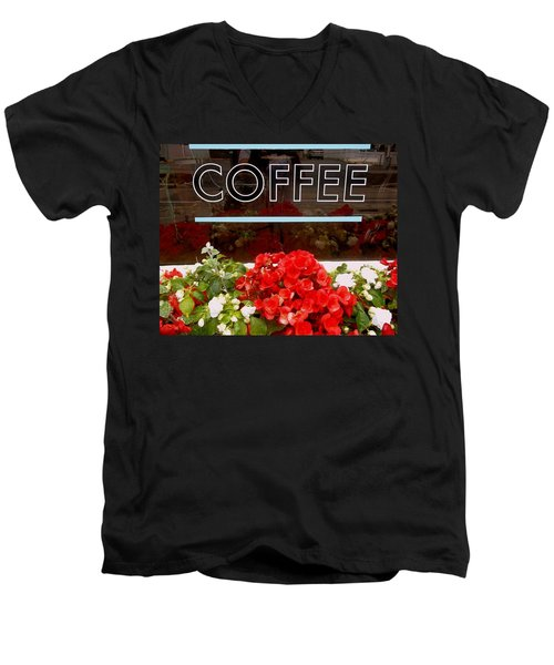 Men's V-Neck T-Shirt featuring the photograph Coffee by Cynthia Amaral