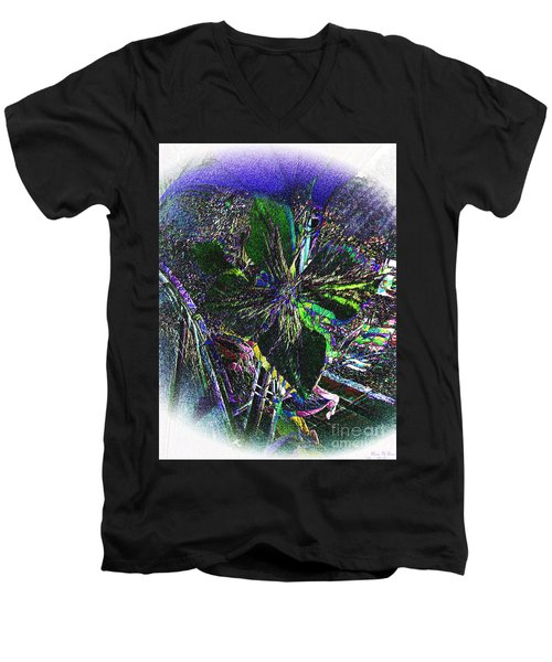 Men's V-Neck T-Shirt featuring the photograph Colorful by Donna Brown