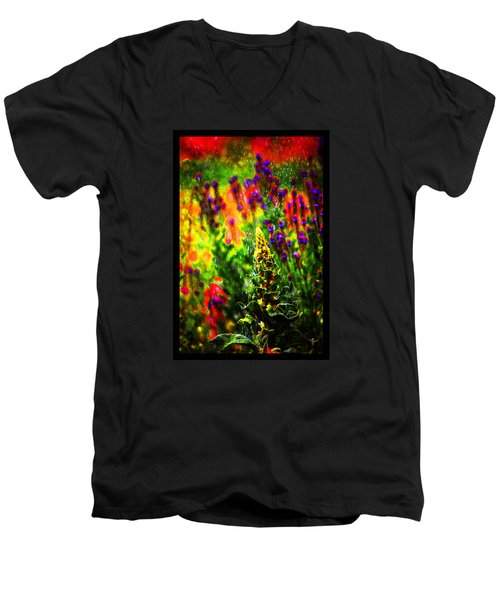 Colors Through The Rain Iv Men's V-Neck T-Shirt by Susanne Still