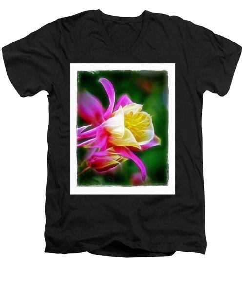 Columbine Men's V-Neck T-Shirt by Judi Bagwell