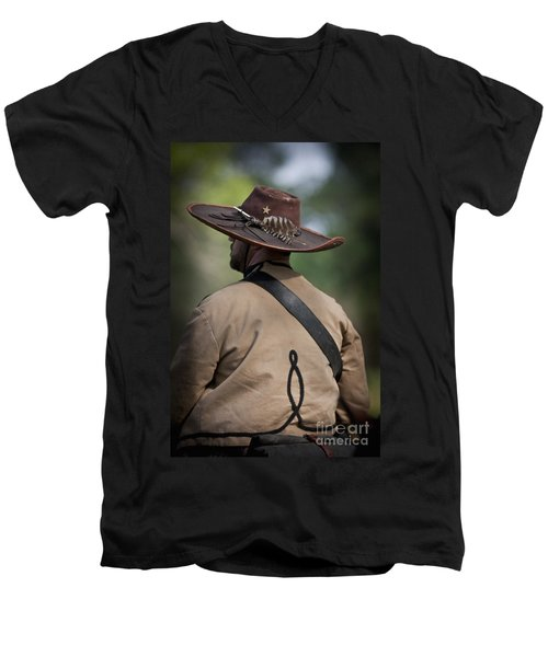 Confederate Cavalry Soldier Men's V-Neck T-Shirt