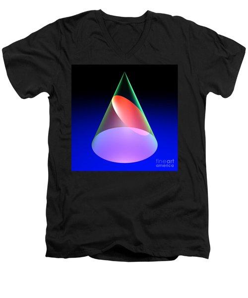 Conic Section Ellipse 6 Men's V-Neck T-Shirt