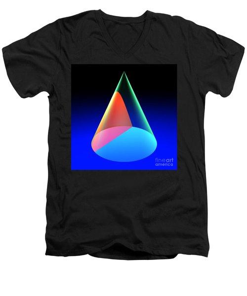 Conic Section Hyperbola 6 Men's V-Neck T-Shirt