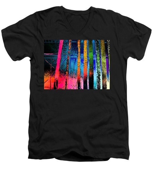 Men's V-Neck T-Shirt featuring the photograph Construct by David Pantuso