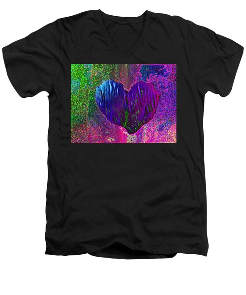 Men's V-Neck T-Shirt featuring the photograph Contours Of The Heart by David Pantuso