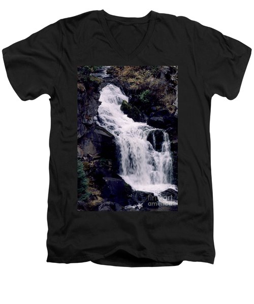 Men's V-Neck T-Shirt featuring the photograph Cool Clear Waters by Sharon Elliott