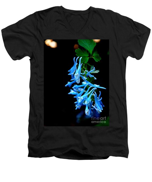 Men's V-Neck T-Shirt featuring the photograph Corydalis  by Tanya  Searcy