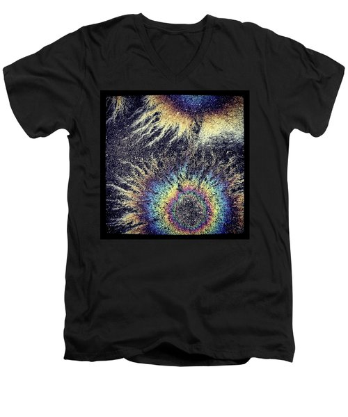 Cosmic Oil-b Men's V-Neck T-Shirt