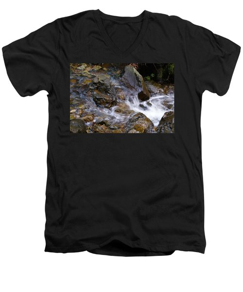 Creek Scene On Mt Tamalpais Men's V-Neck T-Shirt