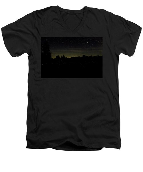 Dancing Fireflies Men's V-Neck T-Shirt by Brent L Ander
