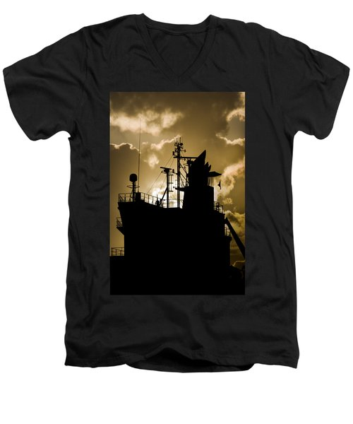 Dark Superstructure Men's V-Neck T-Shirt