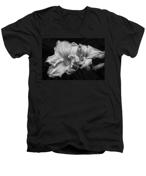 Men's V-Neck T-Shirt featuring the photograph Day Lilies by Eunice Gibb