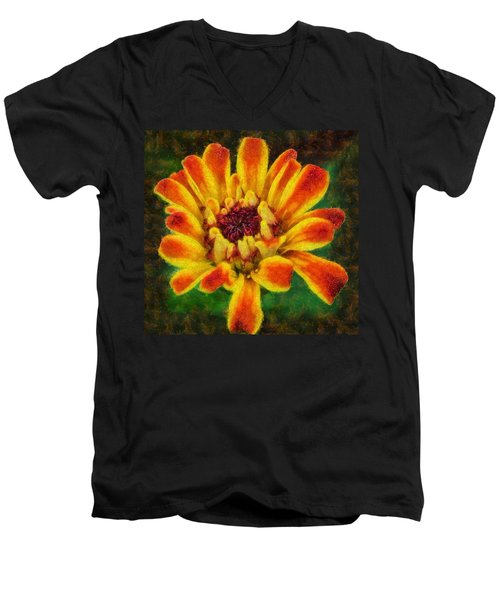 Dazzling Zinnia Men's V-Neck T-Shirt