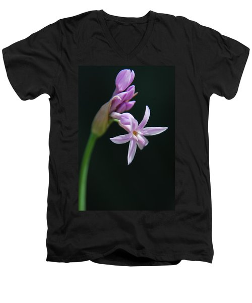 Men's V-Neck T-Shirt featuring the photograph Flowering Bud by Tam Ryan