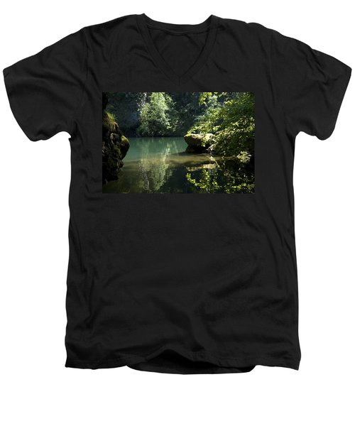Depth Men's V-Neck T-Shirt