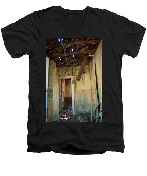 Men's V-Neck T-Shirt featuring the photograph Deterioration by Fran Riley