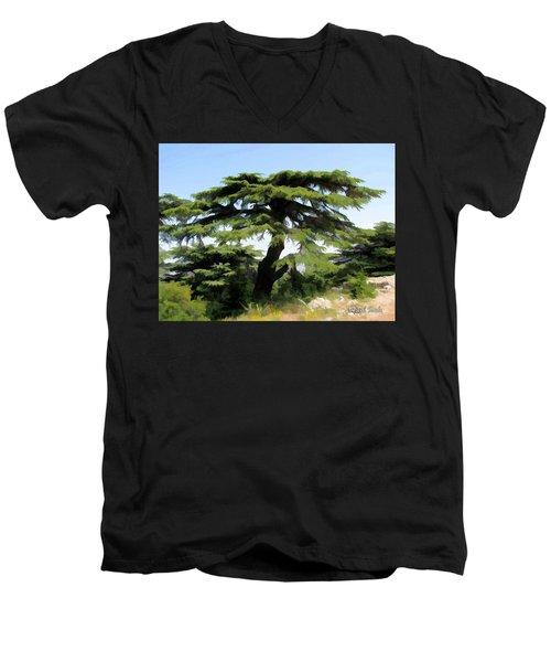 Do-00511 Cedar Forest Men's V-Neck T-Shirt