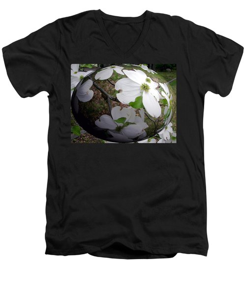 Dogwood Under Glass Men's V-Neck T-Shirt