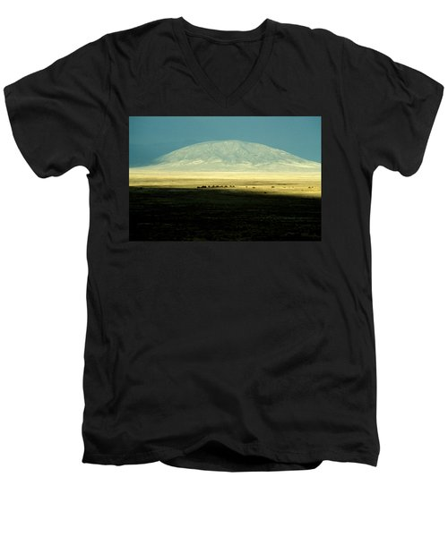 Dome Mountain Men's V-Neck T-Shirt by Brent L Ander