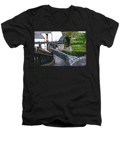 Men's V-Neck T-Shirt featuring the photograph Down To The Mill by Charlie and Norma Brock