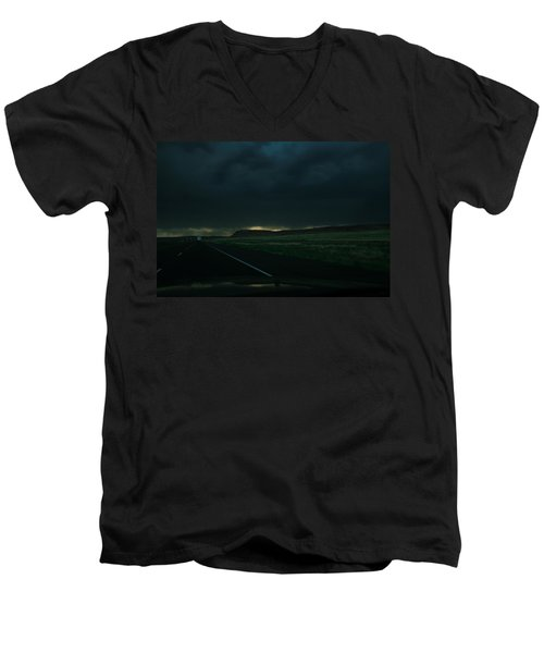 Men's V-Neck T-Shirt featuring the photograph Driving Rain Number One by Lon Casler Bixby