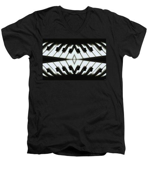 Duet Men's V-Neck T-Shirt by Maria Watt