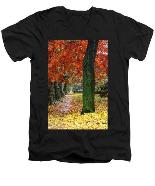 East 19 Street Brooklyn New York Men's V-Neck T-Shirt